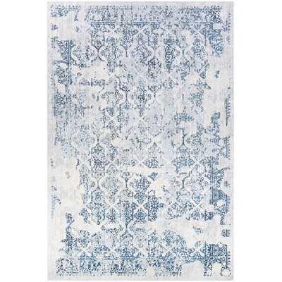 Gilly Steel Blue/Ivory Area Rug - Wayfair