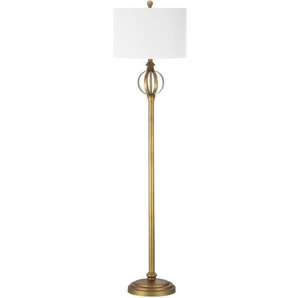 Safavieh Garden 61.5 in. Gold Floor Lamp - Home Depot