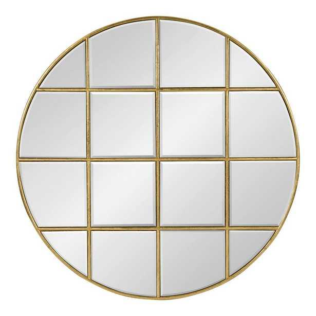 Denault Round Gold Wall Mirror - Home Depot