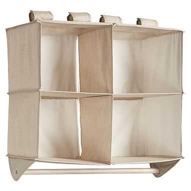 Double Bar Hanging Closet Organizer, Linen - Pottery Barn Teen