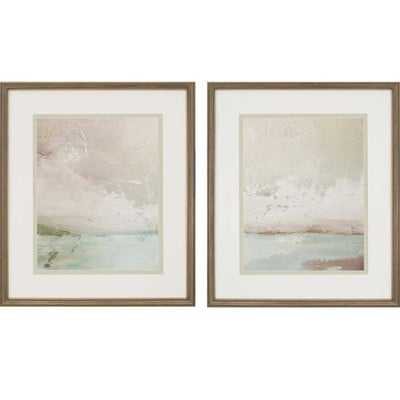 'Eastern Shore' 2 Piece Framed Painting Print Set - Birch Lane