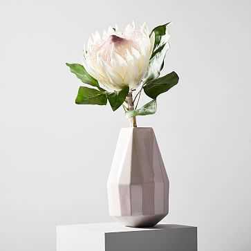 Faux Botanicals, Large White Protea - West Elm