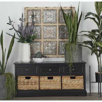 Ottilie Wood Storage Bench - Wayfair