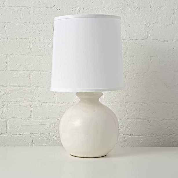 Gumball White Table Lamp - Crate and Barrel