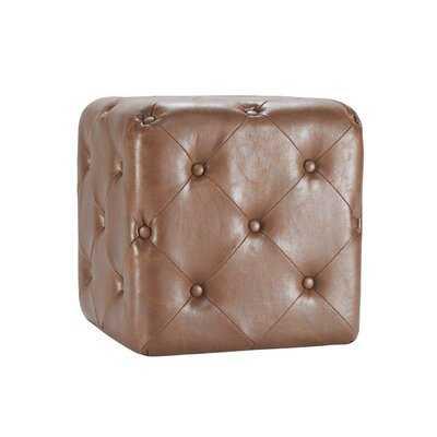 Demaree Square Tufted Cube Ottoman - Wayfair