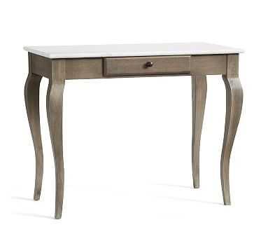 Alexandra Desk, Gray Wash/Marble - Pottery Barn