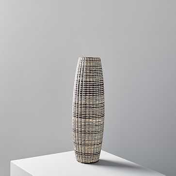 Carved Ceramic Vase, medium - West Elm