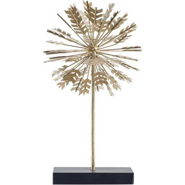 Mercana Spicum II (Large) Decorative Object, Gold - Home Depot