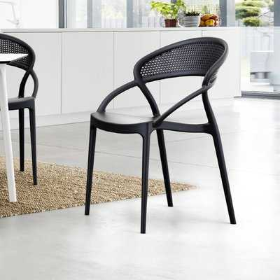 Auman Stacking Patio Dining Chair (Set of 2) - AllModern