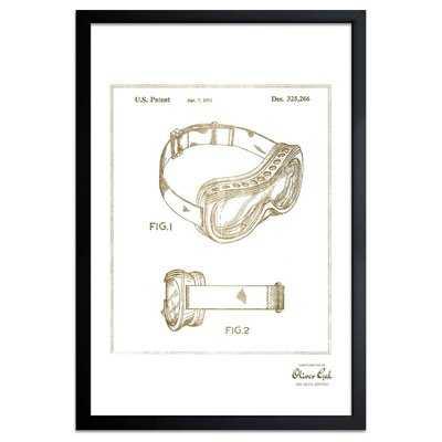 'Ski Mask 1992' Framed Drawing Print in Gold - Wayfair