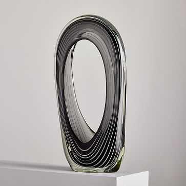 Striped Glass Object - West Elm
