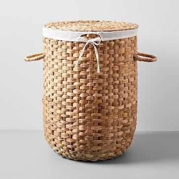 Round Weave Laundry Basket, Large, Natural - West Elm