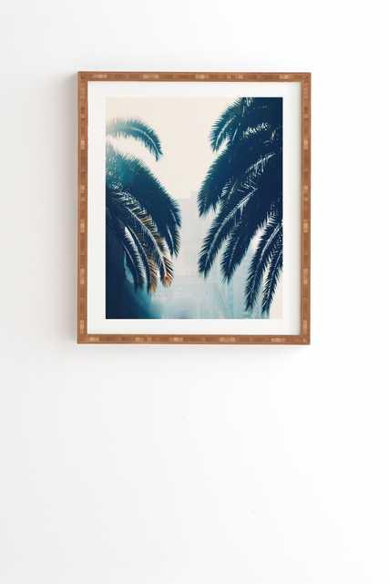 "Chelsea Victoria California Blue Framed Wall Art - 12"" x 12"" - Wander Print Co."