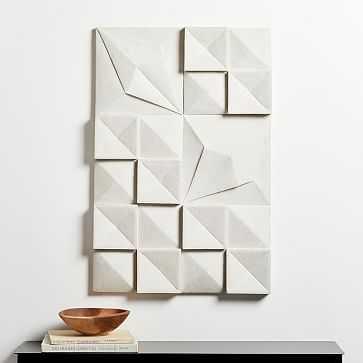 """Lava Ash Tile Wall Art, 36""""W x 24""""H - West Elm"""