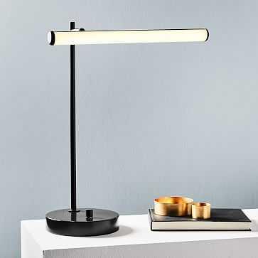 Light Rods LED Table Lamp, Milk, Dark Bronze - West Elm