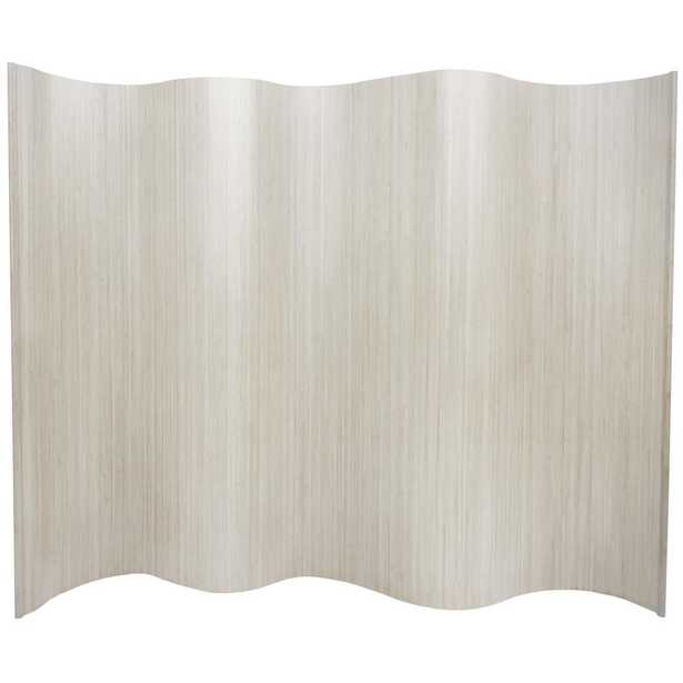 6 ft. White Bamboo Wave 1-Panel Room Divider - Home Depot