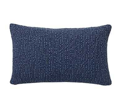 """Honeycomb Lumbar Pillow Cover, 16 x 26"""", Sailor Blue - Pottery Barn"""
