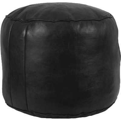 Neasa Fez Leather Pouf - Wayfair