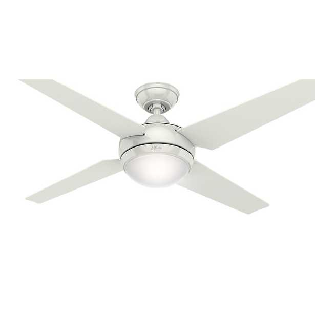 Hunter Sonic 52 in. Indoor White Ceiling Fan with Universal Remote - Home Depot
