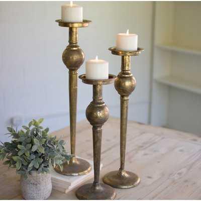 3 Piece Metal Candlestick Set - Birch Lane