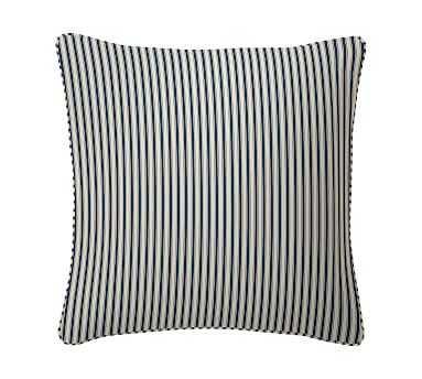 "Sateen Stripe Print Pillow Cover, 20"", Indigo - Pottery Barn"
