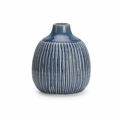 Felicia Medium Striped Table Vase - Wayfair
