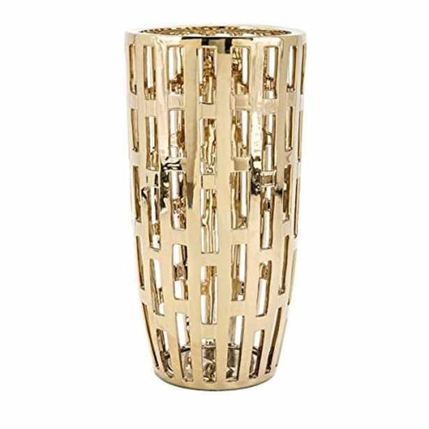 IMAX Ronnan Gold Vase - Home Depot