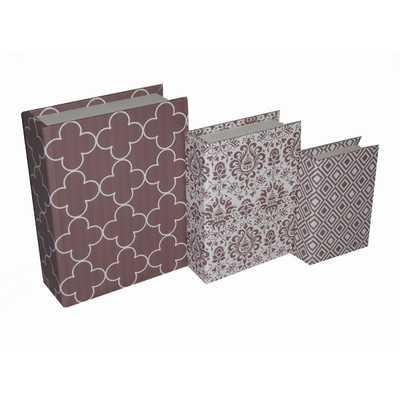 3 Piece Book Box with Mixed Prints - Wayfair