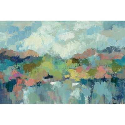 Abstract Lakeside Painting Print on Wrapped Canvas - Wayfair