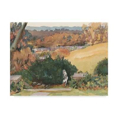 'Watercolor Garden III' Watercolor Painting Print on Wrapped Canvas - Wayfair