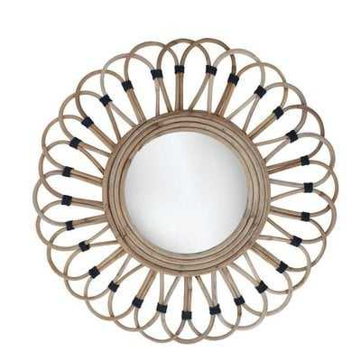 Benhurst Rattan Accent Mirror - Wayfair