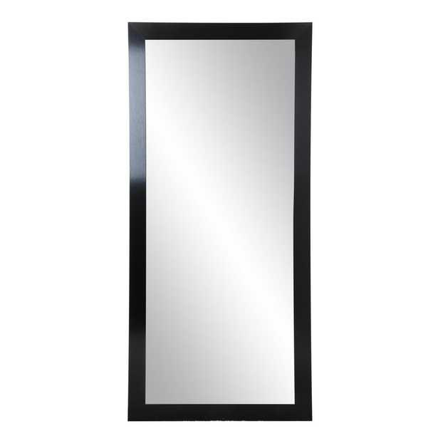 32 in. x 65.5 in. Classic Black Floor Mirror - Home Depot