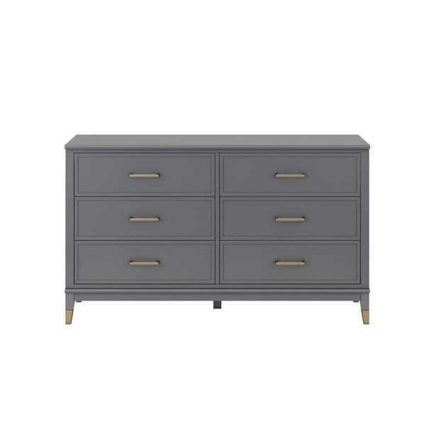 Westerleigh 6 Drawer Dresser Gray - CosmoLiving by Cosmo - Wayfair