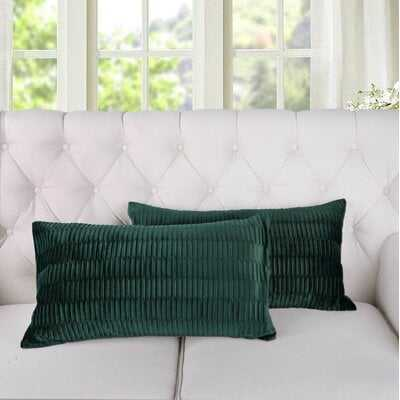 Giuliano Pleated Lumbar Pillow Cover - Wayfair