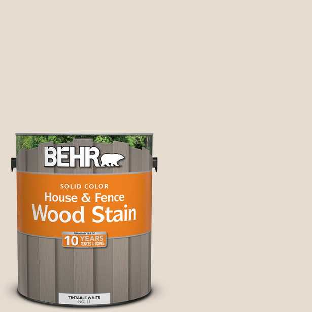 BEHR 1 gal. #PWN-62 Tuscan Beige Solid Color House and Fence Exterior Wood Stain - Home Depot