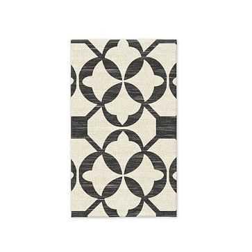 SPO Tile Wool Kilim Rug, 3'x5', Iron - West Elm