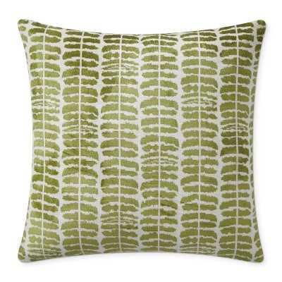"""Stripe Velvet Jacquard Pillow Cover, 22"""" X 22"""", Green - Williams Sonoma"""