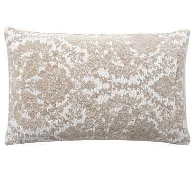 "Rosalia Textured Lumbar Pillow Cover, 16 x 26"", Flax - Pottery Barn"