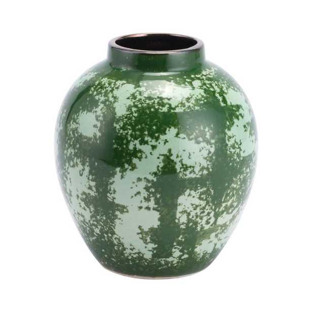 ZUO Green Anguri Small Decorative Vase - Home Depot