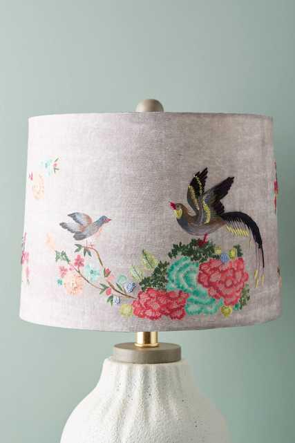 Gardenbird Lamp Shade - Anthropologie