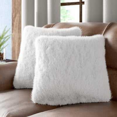 Sheba Faux Fur Throw Pillow (Set of 2) - Wayfair