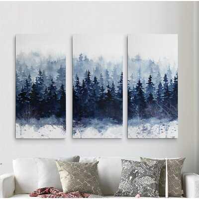 A Premium 'Indigo Forest' Painting Multi-Piece Image on Canvas - Wayfair