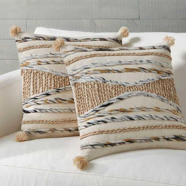 """Xavier Pom Pom Pillows 20"""", Set of 2 - Crate and Barrel"""