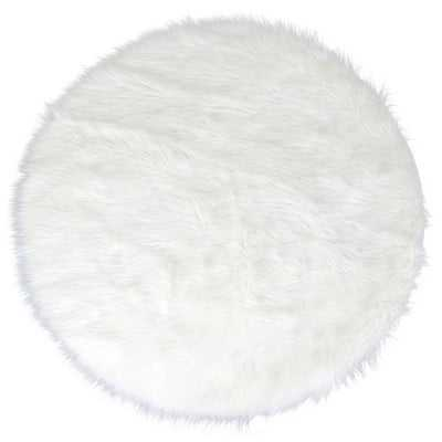 Aric Faux Sheepskin White Area Rug - Wayfair