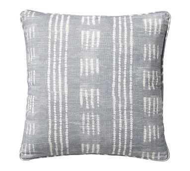 "Shibori Dot Pillow, Gray, 20"" - Pottery Barn"