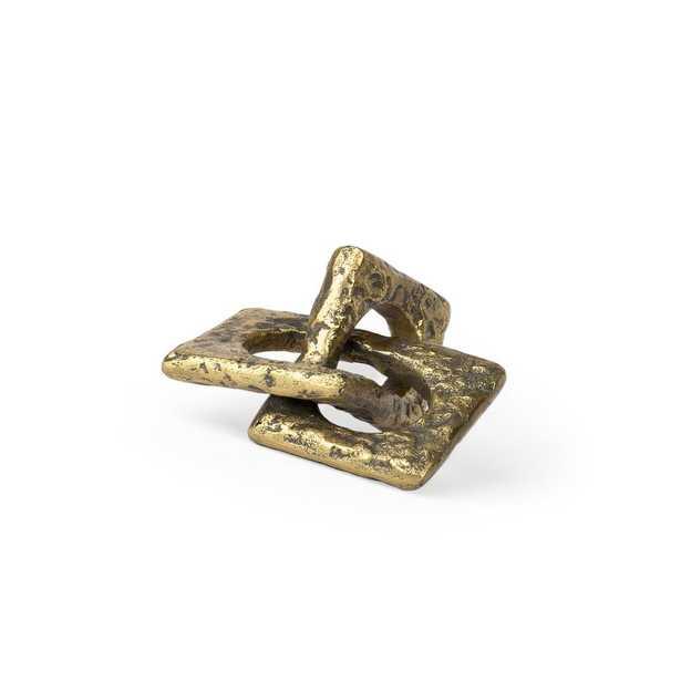 Mercana Delaunay II (Small) Decorative Object, Rustic Gold - Home Depot