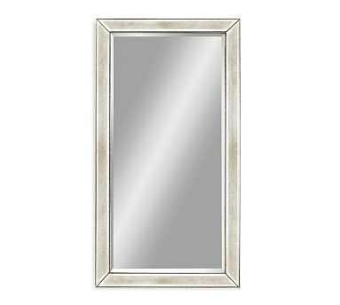 """Beveled Glass Beaded Mirror, 79 x 43"""" - Pottery Barn"""