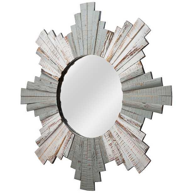 "Varaluz Casa Gray and Whitewash 32"" Sunburst Wall Mirror - Style # 60T95 - Lamps Plus"