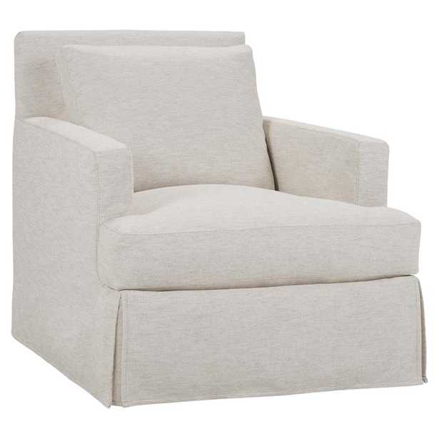 Kingston Modern Classic White Slipcovered Track Arm Club Chair - Natural - Kathy Kuo Home