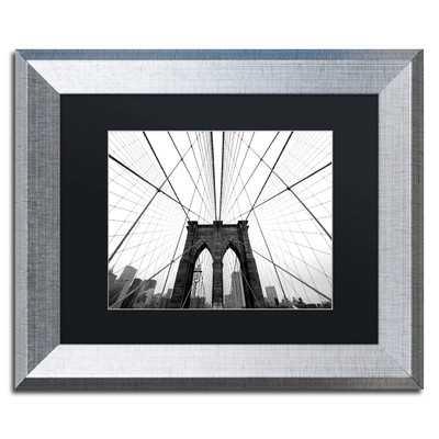 NYC Brooklyn Bridge by Nina Papiorek Framed Photographic Print - Wayfair